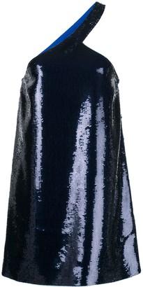 Saint Laurent Sequin Embroidered Asymmetrical Dress
