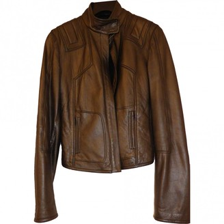 Elie Tahari Anthracite Leather Jacket for Women