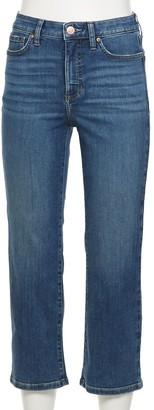 Lauren Conrad Women's High-Waisted Crop Flare Jeans