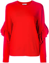 Dondup frill sleeve top