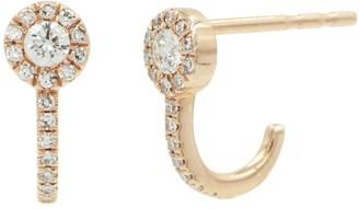 Kamaria Circle Diamond Huggies - Rose Gold