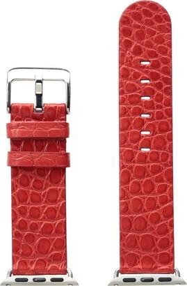 Hadley Roma AP1000RJ 42Y 42mm Apple Strap Alligator MTE Leather Alligator Green Watch Strap