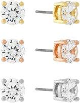 Jessica Simpson Cubic Zirconia Solitaire Stud Earrings Set
