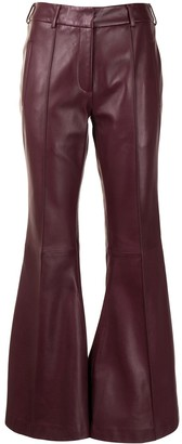 KHAITE Flared Leather Trousers
