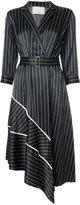 Jason Wu tailored pinstripe midi dress