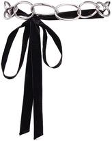 3.1 Phillip Lim Chain velvet wrap belt