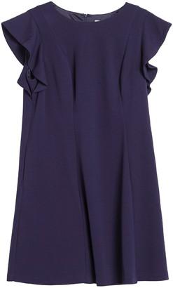 Eliza J Butterfly Sleeve Scuba Fit & Flare Dress