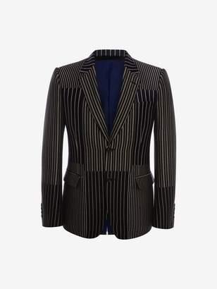 Alexander McQueen Patchwork Pinstripe Jacket