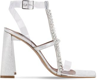 Area 105mm Pvc & Metallic Leather Sandals