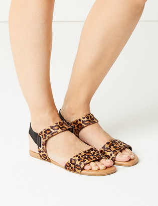 Marks and Spencer Leopard Print Open Toe Sandals