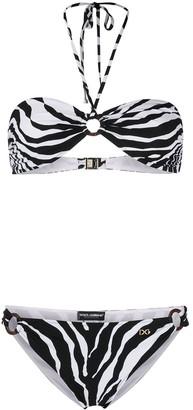 Dolce & Gabbana Zebra Print Bikini
