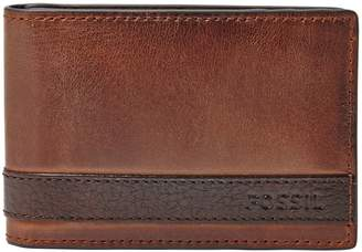 Fossil Quinn Money Clip Bifold Leather Wallet