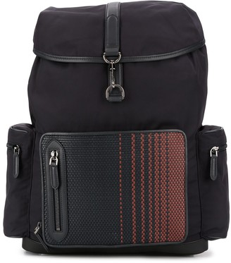 Ermenegildo Zegna Woven Pocket Backpack