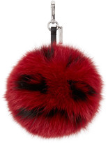 Fendi Red Pompom Keychain
