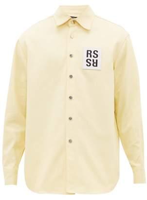 Raf Simons Logo-patch Denim Shirt Jacket - Mens - Yellow
