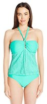 Jones New York Women's Diamond Crochet One Piece Swimsuit