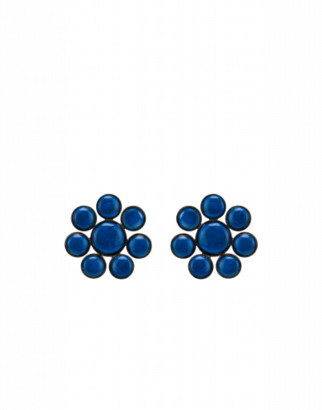 Moschino Flowers Earrings Woman Blue Size U It - (one Size Us)