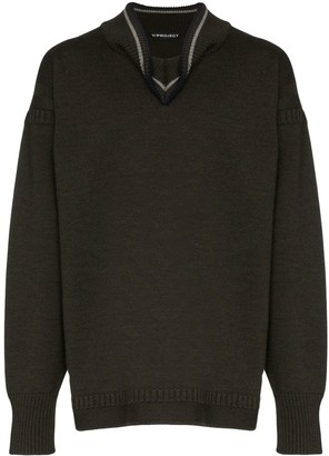 Y/Project Folded Collar Sweater