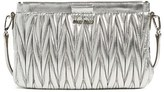 Miu Miu Small Matelasse Leather Clutch - Metallic