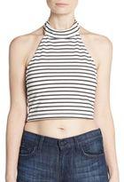 MinkPink Striped Halter Crop Top