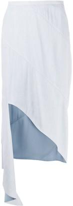 Off-White Asymmetric Mid-Length Skirt