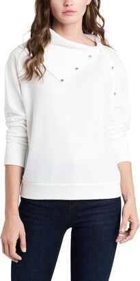 Vince Camuto Foldover Neck Long Sleeve Top
