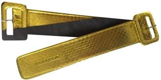 ATTICO Gold Leather Bracelets