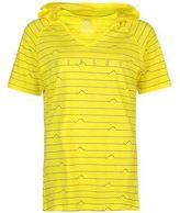 Millet Womens Myo Hooded T Shirt Summer Casual Short Sleeve V Neck Top