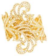 Kenneth Jay Lane Crystal Feather Cuff Bracelet