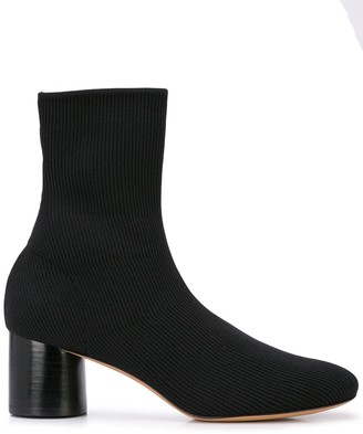 Vince Chunky Heel Sock Boots