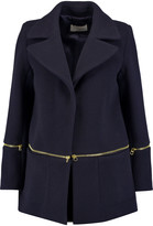 Sandro Mael zip-detailed wool-blend coat