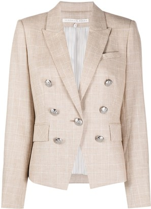 Veronica Beard Fitted Checked Blazer