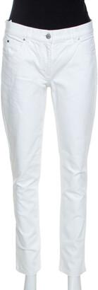 Michael Kors White Denim Straight Fit Jeans M