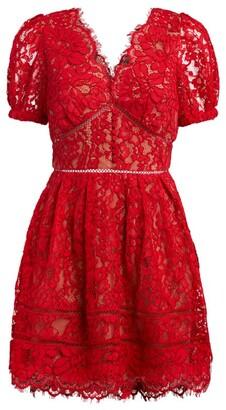 Self-Portrait Corded Lace Mini Dress