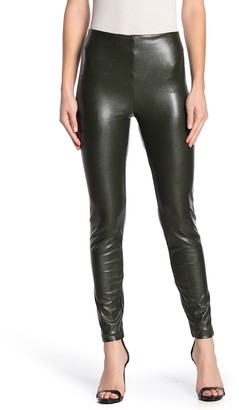 Tractr Ultra High Rise Faux Leather Leggings