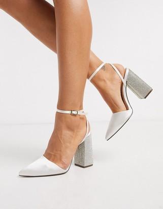 Qupid bridal embellished heeled shoes