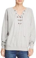 Rebecca Minkoff Raquel Lace-Up Sweatshirt