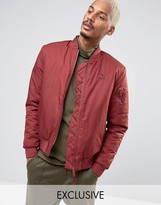 Puma Padded Bomber Jacket in Red 57445801