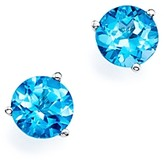 Bloomingdale's Blue Topaz Stud Earrings in 14K White Gold - 100% Exclusive