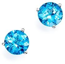 Bloomingdale's Blue Topaz Stud Earrings in 14K White Gold - 100% Exclusive
