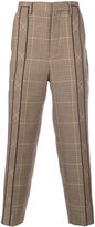 Wooyoungmi pleated plaid tailored trousers