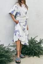 Ragdoll LA FLORAL RUFFLE SKIRT Blue Floral