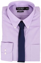Lauren Ralph Lauren Slim Fit Stretch Non Iron Pinpoint Button Down Dress Shirt