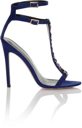 Little Mistress Footwear Cobalt Multi Stone T-bar Heels