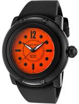 Glam Rock Women's GR25027 - Black Silicone/Bright Orange Wrist Watches