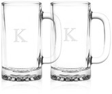 Culver Monogram Beer Mugs, Set of 2