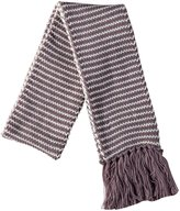 Peppercorn Kids Stripe Scarf With Yarn Tassels (Toddler/Kids) - Taupe - One Size