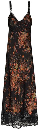 Paco Rabanne V-neck printed floral dress