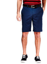 Haggar Cool 18 Oxford Short - Straight Fit, Flat Front, Hidden Expandable Waistband