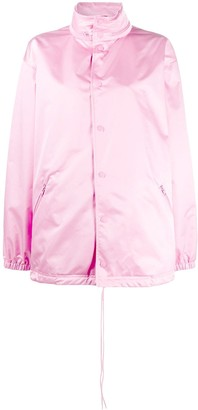 Balenciaga Button-Up Raincoat